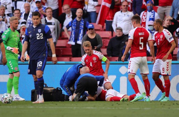 Uefa premia capitão da Dinamarca e médicos que socorreram Eriksen na Eurocopa
